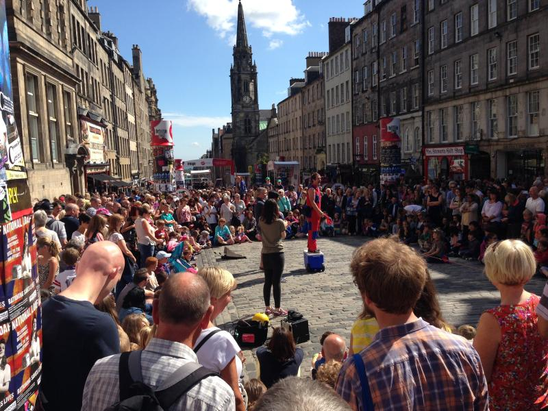 An August Festval scene on Royal Mile