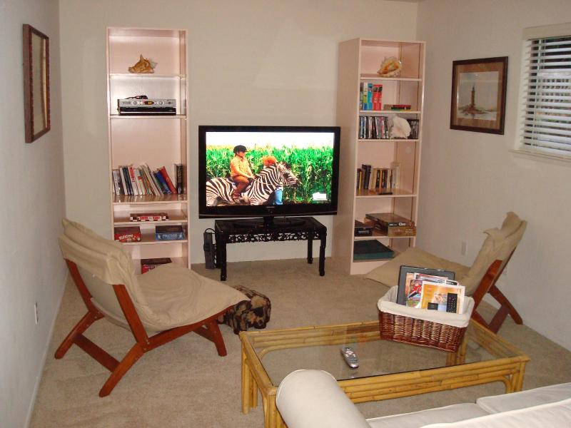 TV Room with Video Library and Lots of Board Games