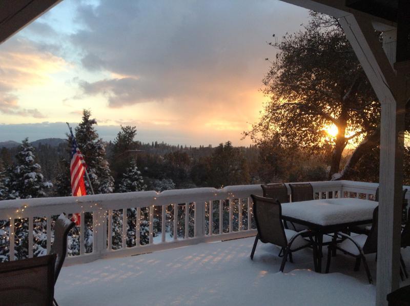 Puesta de sol y nieve! Una combinacion perfecta