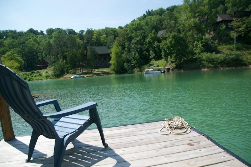 Swimming and fishing are great in our little cove just off the main channel. Dock has swim ladder