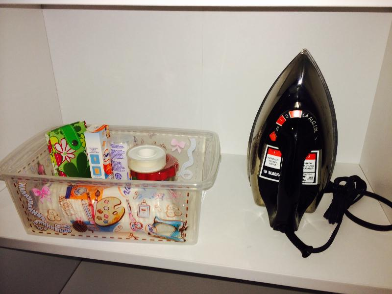Iron and kit for small emergencies