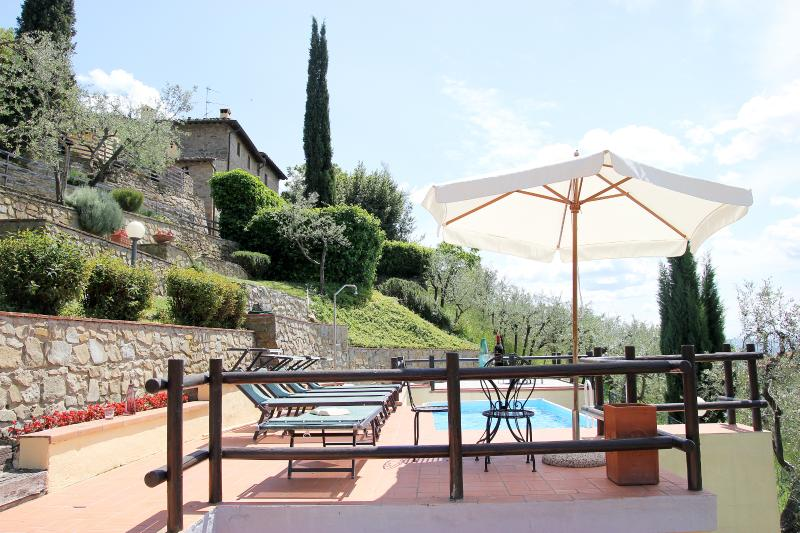 Villa in the Chianti hills, holiday rental in Loro Ciuffenna