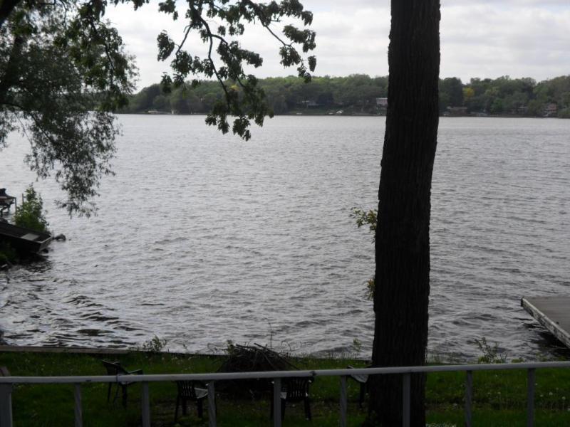 vista al lago desde patio
