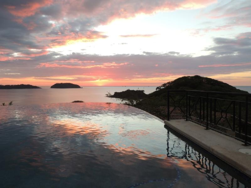 Sunset view from infinity pool