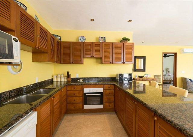 Fully equipped kitchen with granite counter tops!