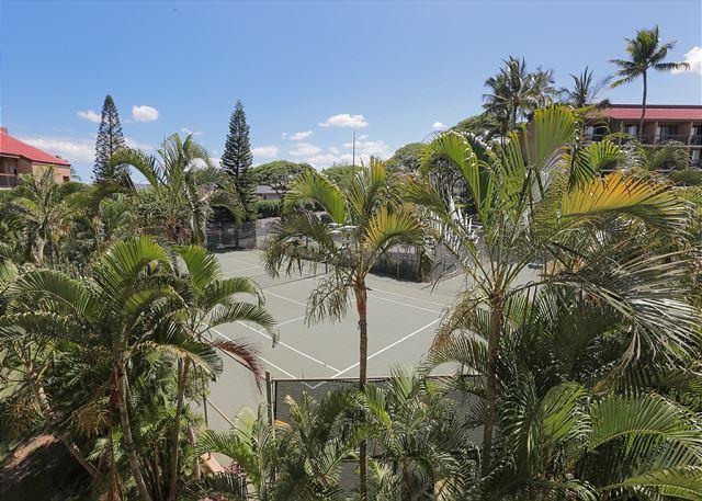 Luchtfoto van Maui Vista tennisbanen (niet uitzicht vanaf deze eenheid
