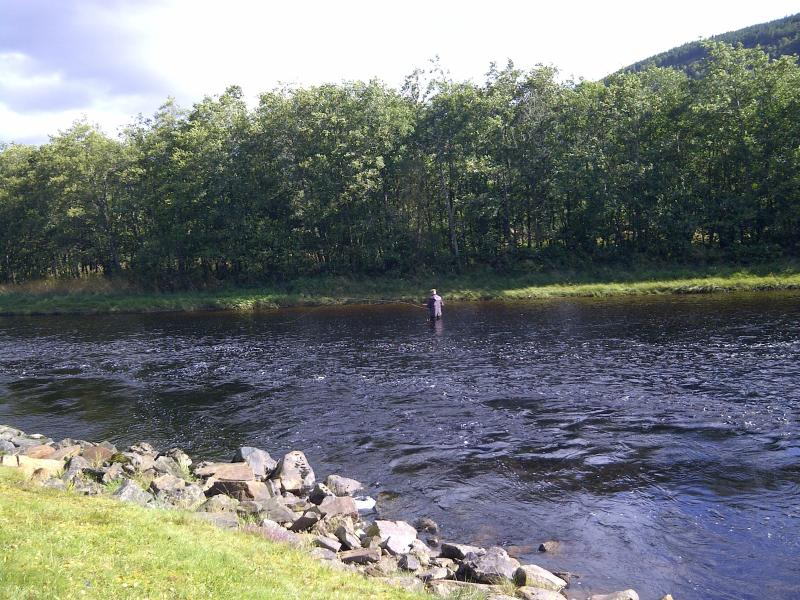 Fishing the Famous Road Pool on The River Glass