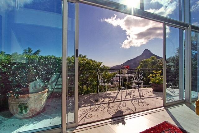 View from  bedroom balcony where you can enjoy a sundowner and take in the view.