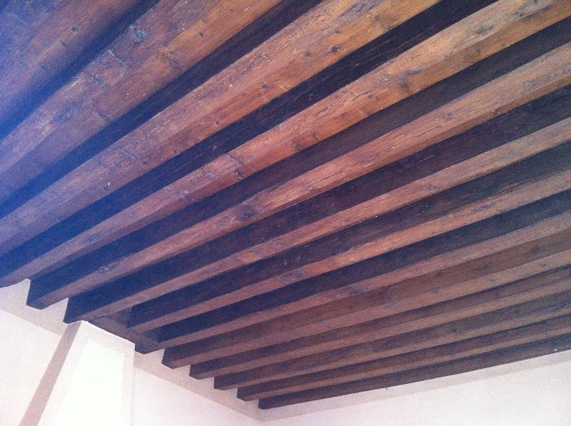 Wooden beamed ceiling