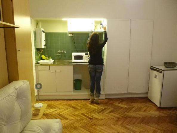 kitchenette front view