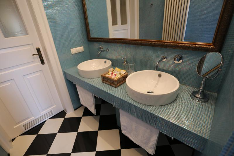 The bathroom with twin sinks for your convenience and comfort.