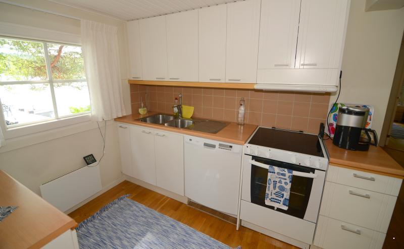 Kitchen has all equipment. Juice press, tea maker, coffee machines, toaster etc.