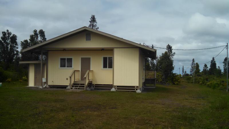 Arrière de la maison pour barbecue, la propriété s'étend sur 40 pieds pour plus d'intimité. Regardant vers l'entrée fermée