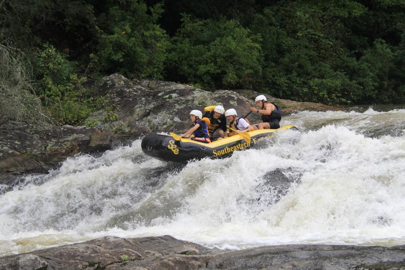 Whitewater rafting: Chattooga River near Clayton, Georgia, 45 minutes from our chalet