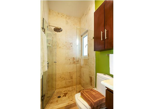 All marble with rainfall shower