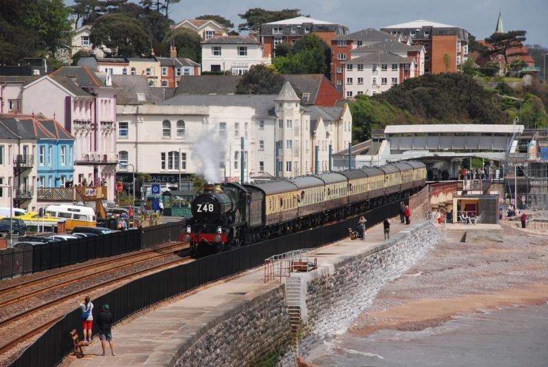 In the `pink` on Dawlish seafront