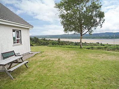 View of Sheephaven Bay from the Side Garden