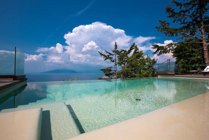 Private Infinity Pool with Sea and Vesuvius View