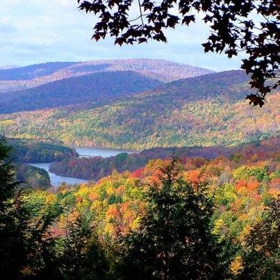 Ashokan Reservoir weergave in september / oktober / november.