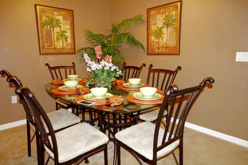 Roomy dining room