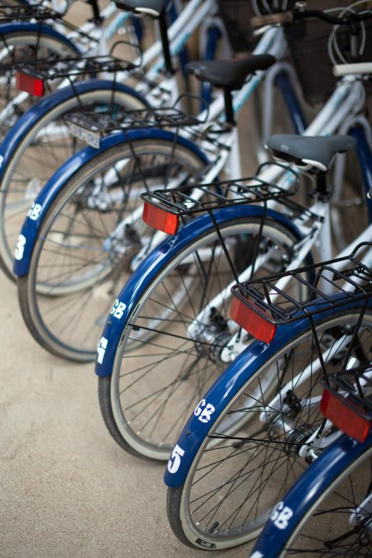 COMPLIMENTARY BICYCLES FOR YOUR RIDES ON THE ISLAND