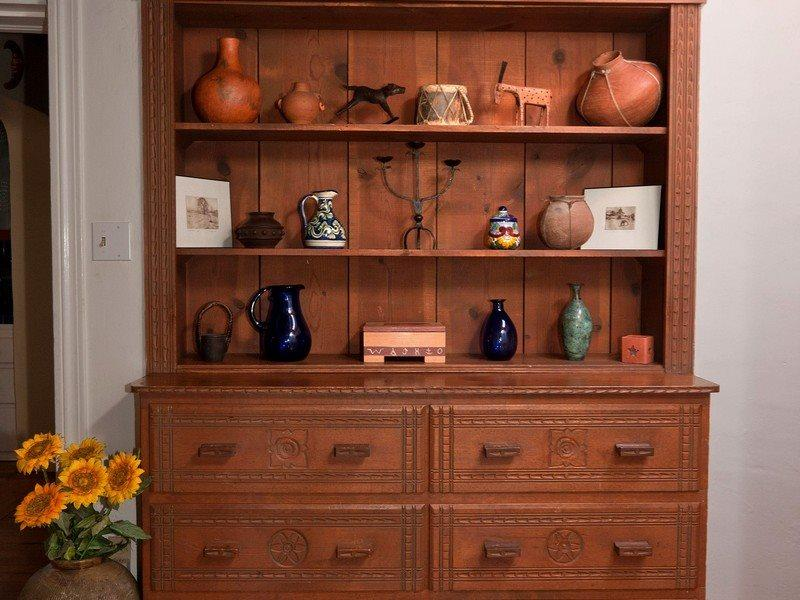 China cabinet in hallway