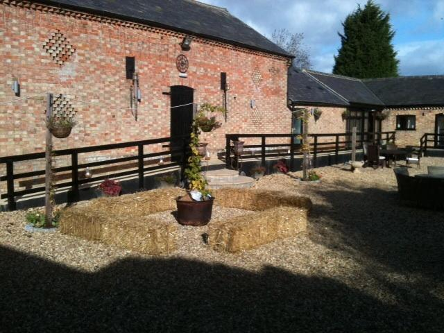 Front of barn and courtyard for sitting out