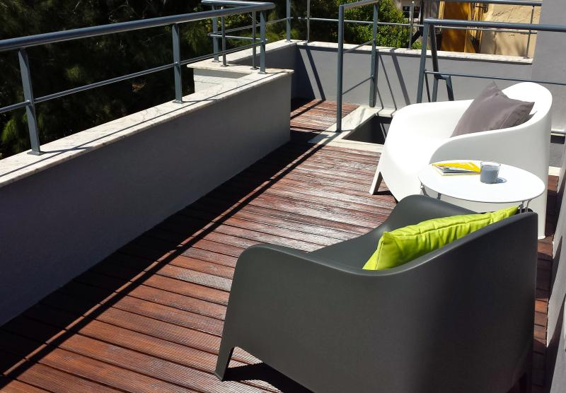 You will love the rooftop terrace for your breakfast or vinho verde at night