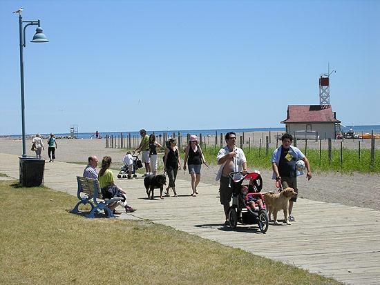 The Boardwalk and Leuty Lifeguard Station