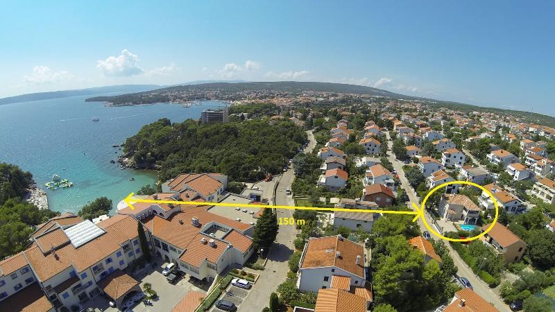 Villa KRK from sky