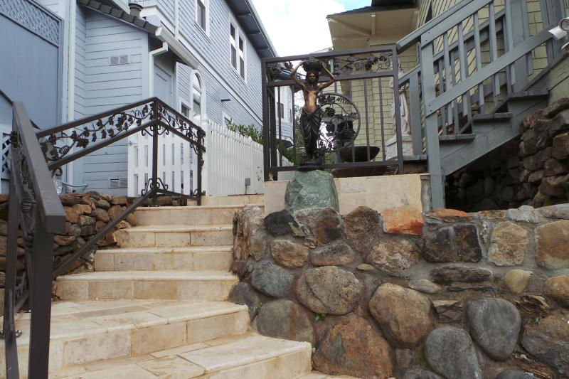 Stairs from Parking Area in back