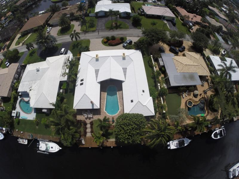 View from above. Deepwater canal leads out to the intracoastal waterway.