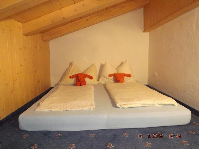 Mezzanine sleeping area accessed by ladder