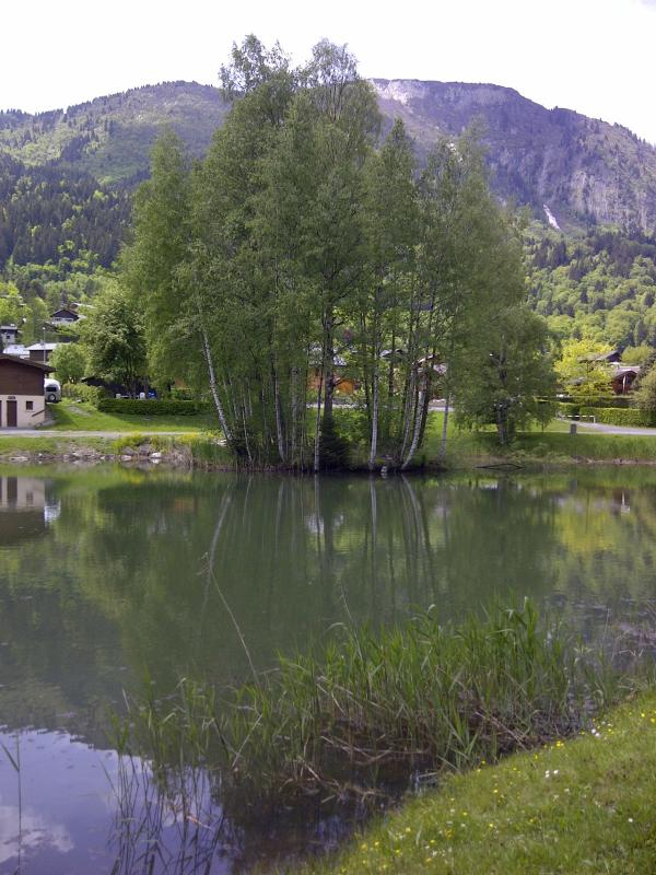 Les Houches has its own small lake for fishing and picnicking