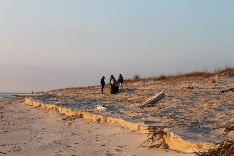 Esta es nuestra playa privada en un día ocupado;-).   Su siempre cambiante.