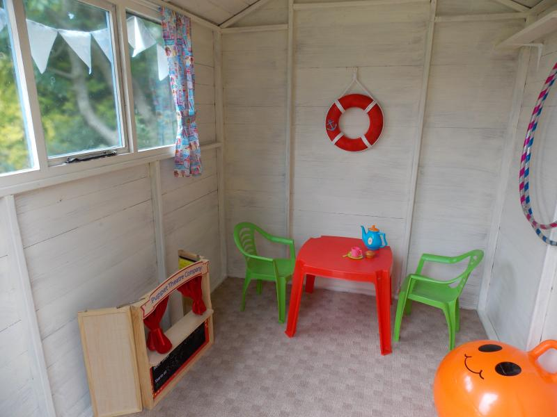 Children's Garden Beach Hut Interior