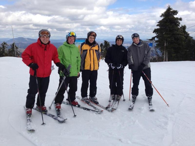 Skiing Okemo on a beautiful day
