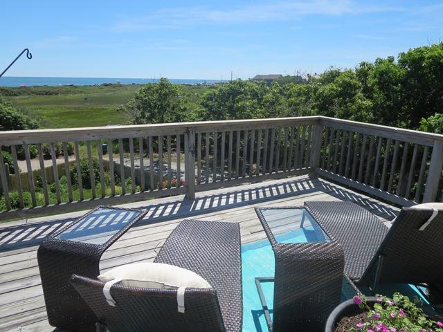 Panoramic ocean views from the large deck! - 19 Bob White Lane South Harwich Cape Cod New England Vacation Rentals