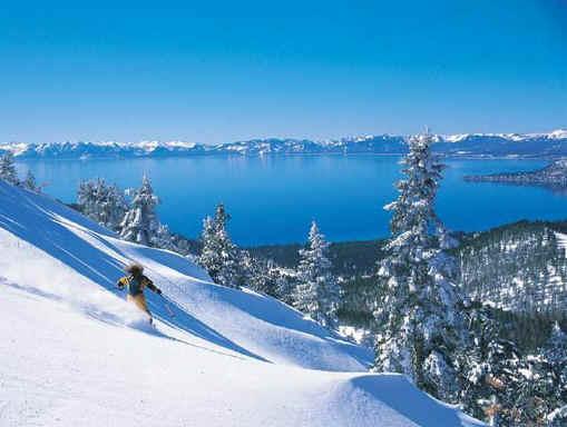 Heavenly Ski Resort en el centro de la ciudad. Ve al lado de esta montaña de la cubierta