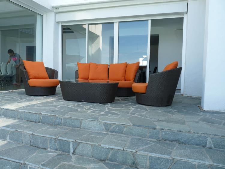 Comfortable outside furnishings