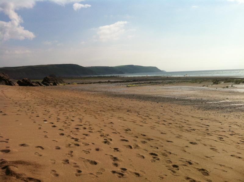 Nearby sandy Widemouth Bay
