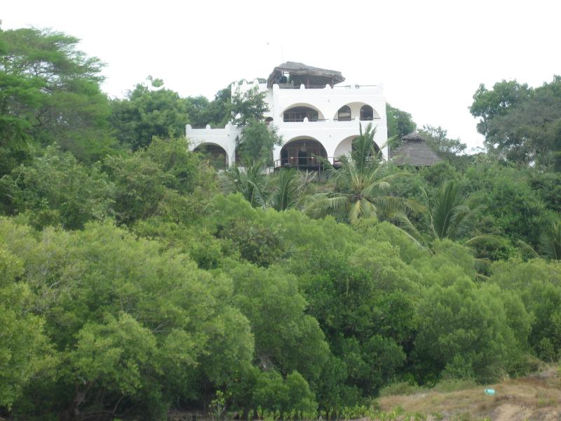 view of the house from Mtwapa creek