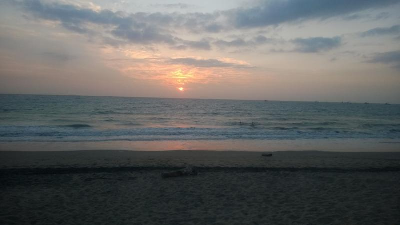 sunset in Crucita