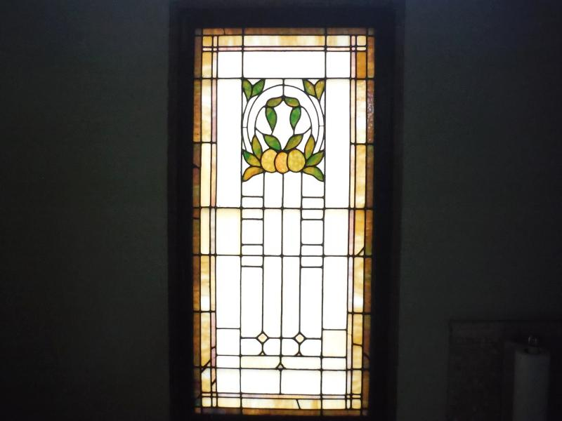 Vintage stained glass window.