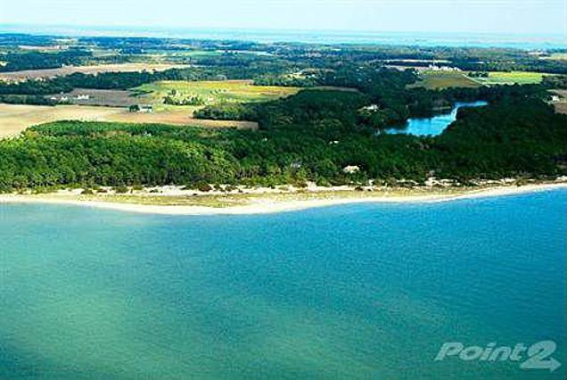 Vistas a la playa desde el aire.
