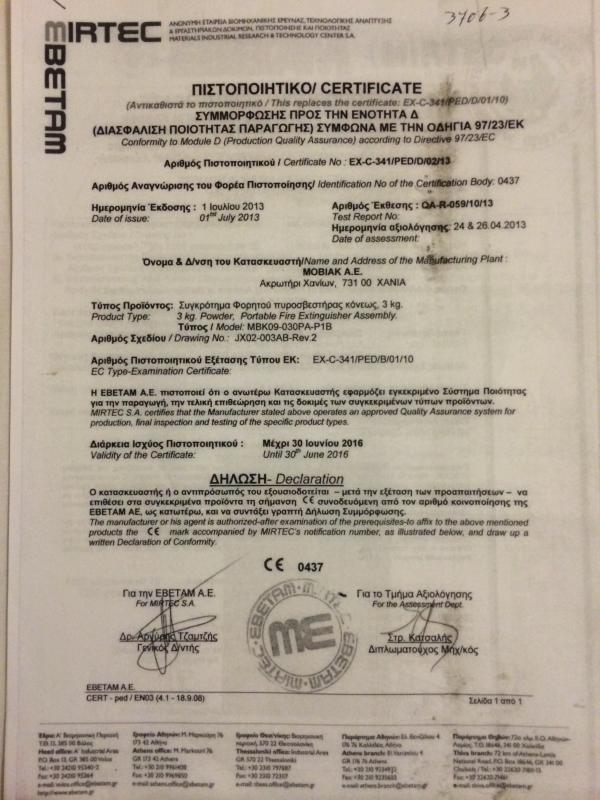 Greek Tourist Authority Licence