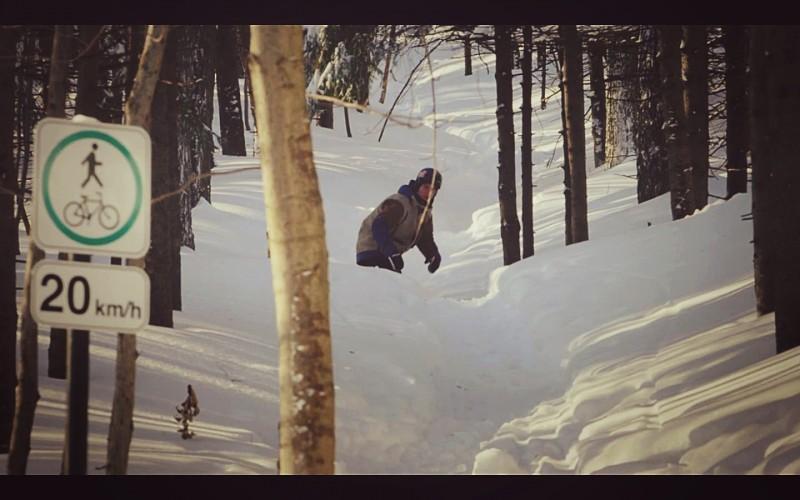 Snowboard en el Parque Mont-Royal