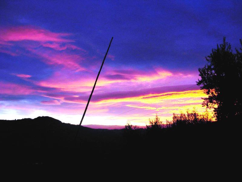 September zonsondergang