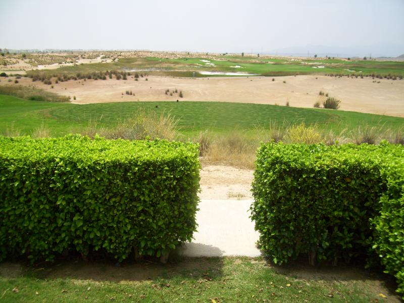 View from the patio over the golf course