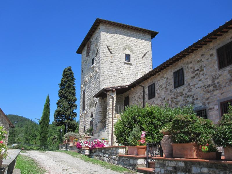 The Medieval Tower of the Medieval complex Villa Torre di Clonne  #florencevillarental